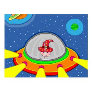 Simon and his Spaceship Postcard