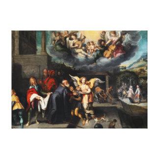 Simon de Vos Return of the Prodigal Son Canvas Print