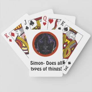 Simon- Does all types of things cards! Playing Cards