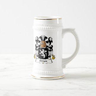 Simon Family Crest Beer Stein