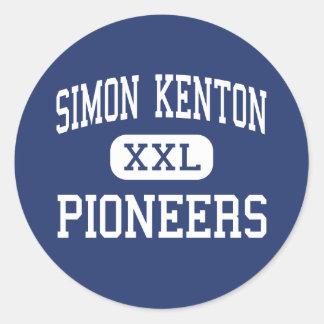 Simon Kenton - Pioneers - High - Independence Round Sticker