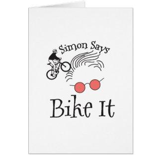 Simon Says bike it Card