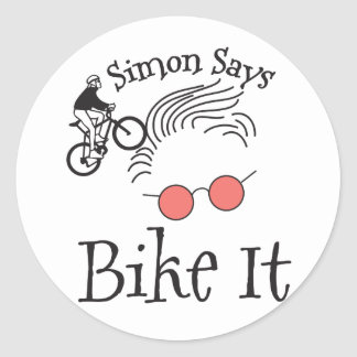 Simon Says bike it Classic Round Sticker