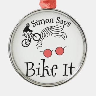 Simon Says bike it Silver-Colored Round Decoration
