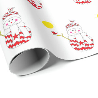 Simon the Snowman Wrapping Paper