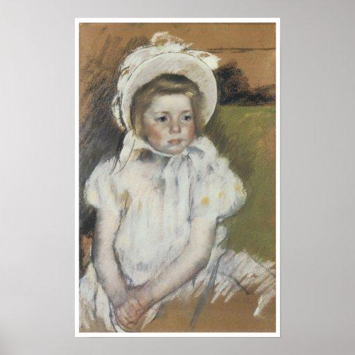 Simone in a White Bonnet, 1901 Poster