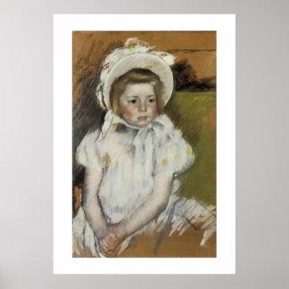 Simone in a White Bonnet Poster