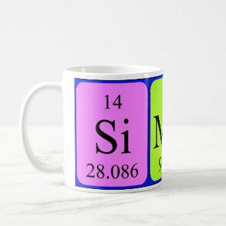 Simone periodic table name mug
