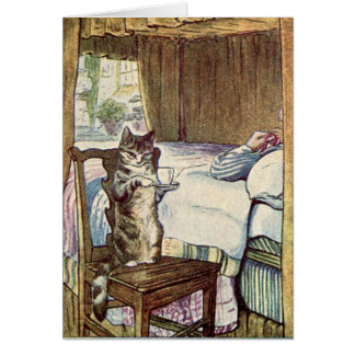 Simpkin the Cat Serves Tea - Beatrix Potter Card