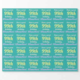 Simple 99th Birthday Wrapping Paper
