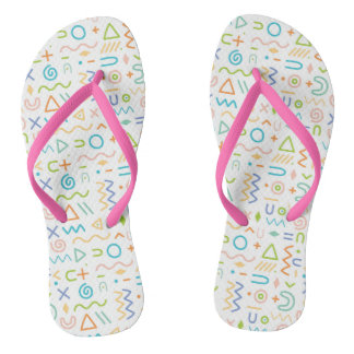 Simple abstract flip flops for everyday wear thongs