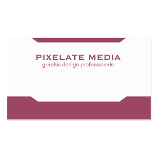 Simple accents and angles burgundy design pack of standard business cards