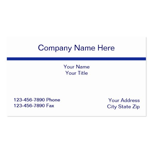 Simple Acountant Business Card