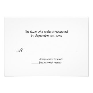 Simple All Occasion Black Text Reply Cards