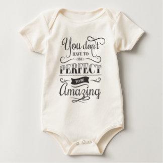 Simple & Amazing Inspirational Quote   Bodysuit