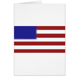 Simple American flag Greeting Card