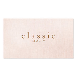 Simple and Classic Beauty Pink Linen Look Pack Of Standard Business Cards