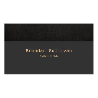 Simple and Classic Faux  Black Linen Pack Of Standard Business Cards