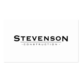 Simple and Classic White Construction Company Pack Of Standard Business Cards