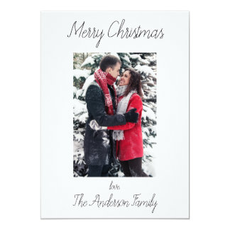 Simple and Clean Black and White Merry Christmas Card