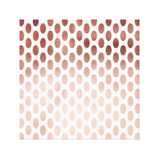 simple and clear faux rose gold polka dots pattern canvas print