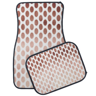 simple and clear faux rose gold polka dots pattern car mat
