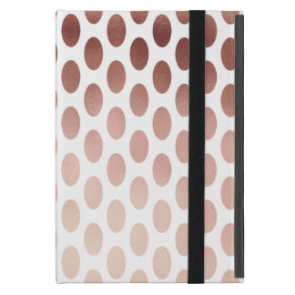 simple and clear faux rose gold polka dots pattern case for iPad mini