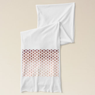 simple and clear faux rose gold polka dots pattern scarf