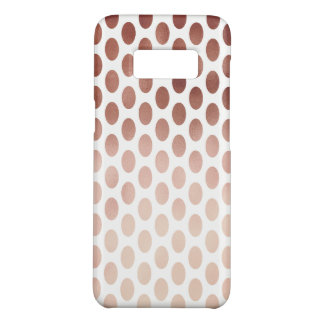 simple and clear rose gold polka dots pattern Case-Mate samsung galaxy s8 case
