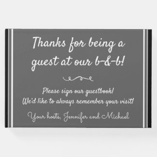 Simple and Conservative B-and-B Guest Book