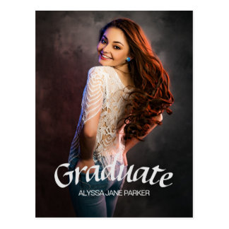 Simple and Easy Customizable Graduation Post Card