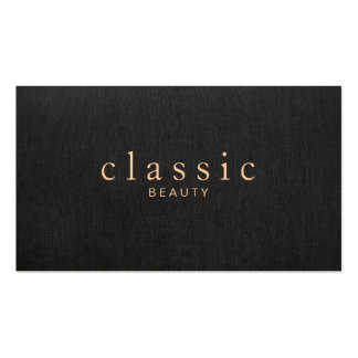 Simple and Elegant Beauty Black Linen Look Pack Of Standard Business Cards