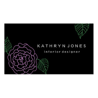 Simple and Elegant Floral Business Card