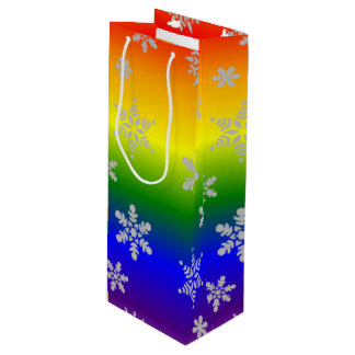 Simple and Elegant Gay Christmas Wine Gift Bag