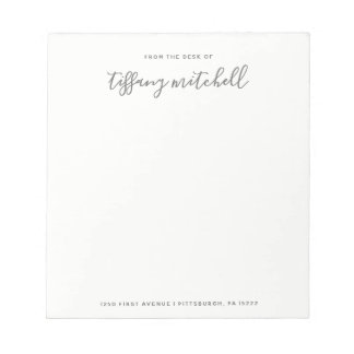 Simple and Elegant Gray and White | Typography Notepad
