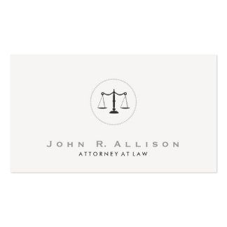 Simple and Elegant Justice Scale Attorney Pack Of Standard Business Cards