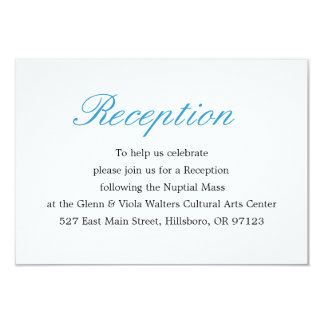 Simple and Elegant Reception Card