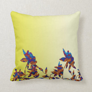 Simple and Elegant Yellow Flower Throw Pillow