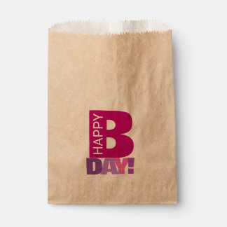 SImple and Fun Happy Bday Favor Bags