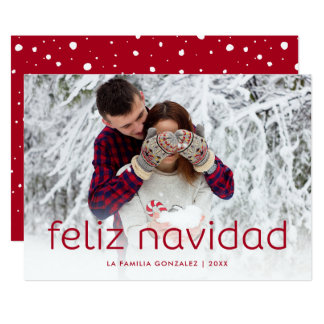 Simple and Fun Red | Feliz Navidad Christmas Photo Card