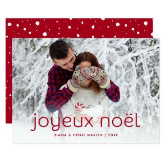 Simple and Fun Red | Joyeux Noel Christmas Photo Card