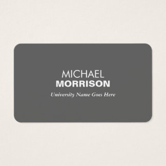 Simple and Modern Gray Graduate Student University Business Card