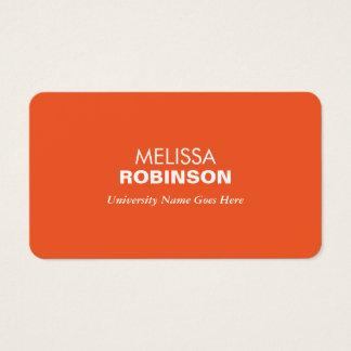Simple and Modern Orange Graduate Student Business Card