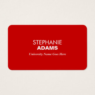 Simple and Modern Red Graduate Student University Business Card
