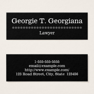 Simple and Plain Lawyer Business Card