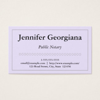Simple and Plain Public Notary Business Card