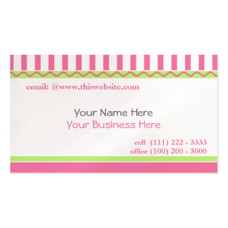 Simple and Sweet/ Pink Pack Of Standard Business Cards