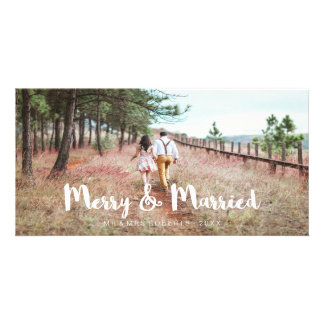 Simple and Whimsical Merry and Married Photo Cards