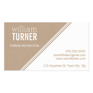 SIMPLE ANGLE modern text minimal trendy eco kraft Pack Of Standard Business Cards