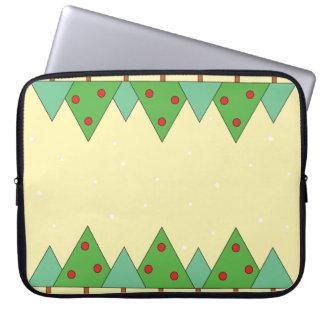 Simple animated Christmas trees Laptop Sleeve